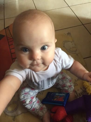 Harley fake selfie 9 months