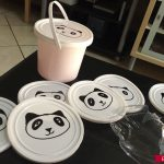 panda themed birthday party in progress