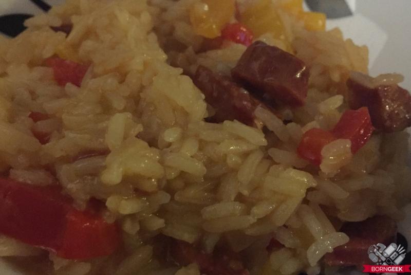 chorizo-rice-served