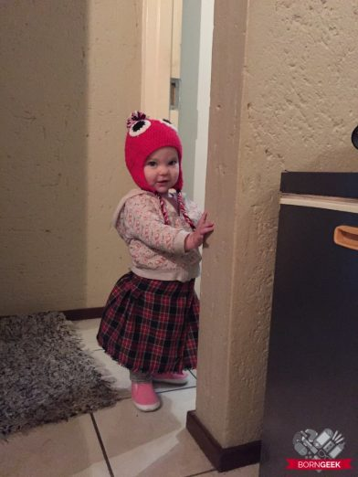 cute Harley standing 1 year 5 months