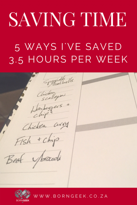 Saving Time - 5 ways I've saved 3.5 hours a week