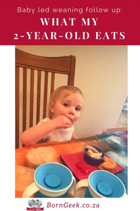 Baby led weaning follow up: What my two-year-old eats
