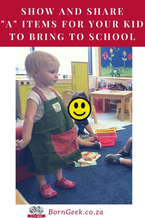 "Show and share ""A"" Items for your kid to bring to school"