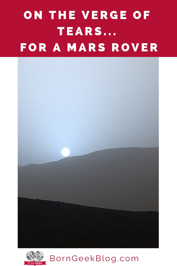 On the verge of tears... for a Mars rover